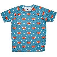 Camiseta Running Original Divertida Niño, Niña, Manga Corta, Gimnasio #FoxBlue Talla 8