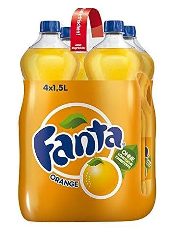 Fanta Orange, 4 x 1,5 l EW Flasche
