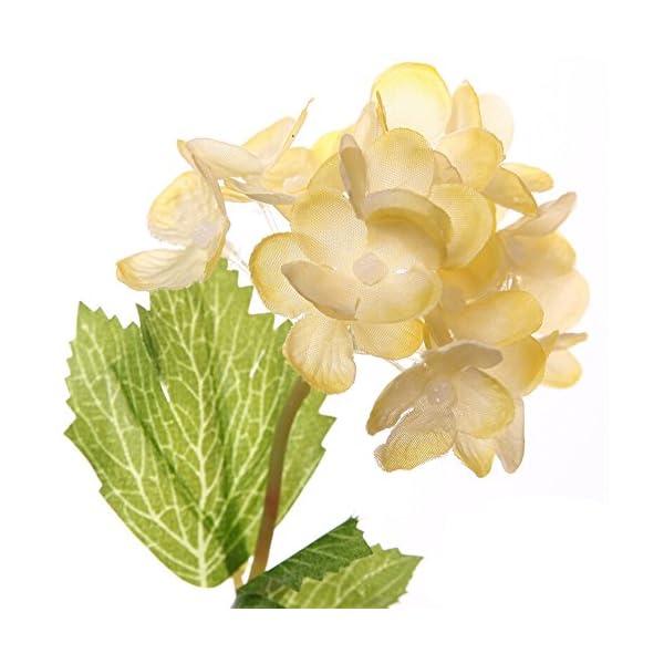 ZHOUBA – 1 pieza de hortensias artificiales para fiestas, bodas y bodas, decoración de flores falsas para el hogar…
