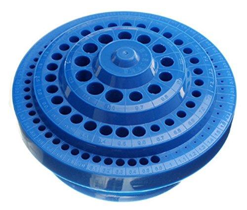 SaySure - Multifunctional Blue Plastic Round Shape Drill Bit Storage Box