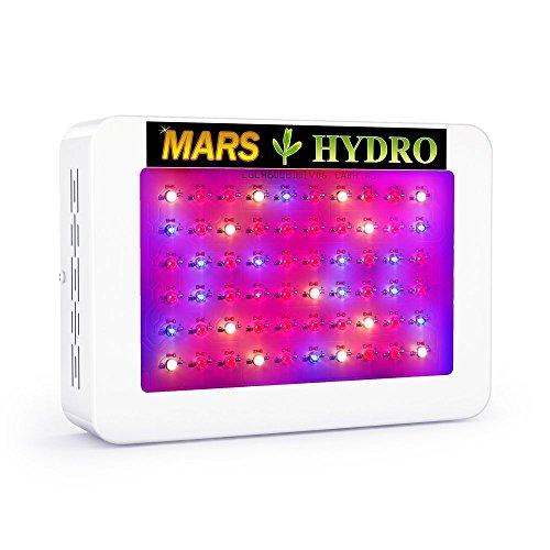 MarsHydro Pflanzenlampe LED Grow Lampe für Zimmerpflanzen Blumen und Gemüse vollspektrum 300W