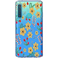 Oihxse Case Transparente Suave TPU Compatible con Samsung Galaxy Note 9 Funda [Lindo Caricatura Flor Serie Dibujos] Cristal Protector Carcasa Anti Rasguños Bumper Cover-Florales