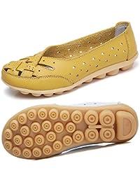 Mocasines para Mujer Ligero Loafers Casual Zapatillas Verano Zapatos del Barco Zapatos para Mujer Zapatos de Conducción