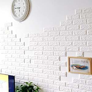 3d motif de briques tile mur stickers muraux diy auto adh sif autocollants imperm able papier. Black Bedroom Furniture Sets. Home Design Ideas