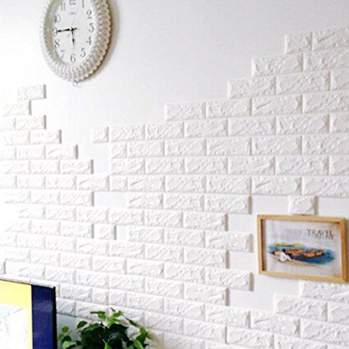 3D-Backstein-Muster-Tapete Wandaufkleber , 3D kreative DIY selbstklebende Schaumstoff PE Nachahmung Ziegelsteinmuster Tapeten, Polstersofa TV Hintergrund Arbeitszimmer Schlafzimmer Wohnzimmer Büro zu Hause Dekoration (20 Packung)