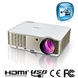 EUG 88 Projektor LCD LED Beamer mit native Resolution 1280 x 800 gut für Heimkino