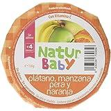 Natur Baby Puré Natural de Plátano, Manzana, Pera y Naranja para Bebé - Paquete