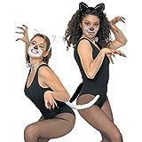 NET TOYS Katzen Look Set mit Ohren Fliege und Schwanz Katzenset Kostümset Katze Tieroutfit Fasching Karneval