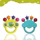 Berrose-Baby Glocke Spielzeug Hand auf dem Spielzeug Baby Geburtstagsgeschenk-Baby Niedlichen Cartoon Multi-Stil Ring Glocke Set Spielzeug Kinder Frühe Lustige Rasseln Baby Wachsen Geschenke (Zufällig, 17.3*13.4cm)