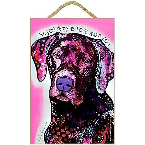 Labrador Cane regalo colorato, motivo