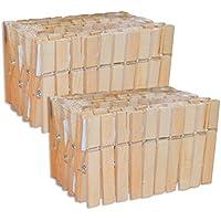 100 Stück Holz Wäscheklammern (2x 50 Stk)