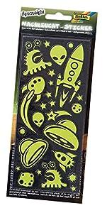 Folia 1460-Noche Bombilla Pegatina Space Night, Aprox. 10x 23cm, 2Hojas
