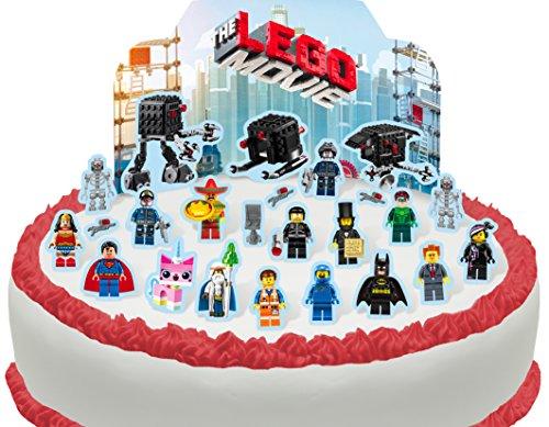 Essbare The Lego Movie Szene Kuchen Topper (Tortenaufleger, Bedruckte Oblaten, Oblatenaufleger) ()