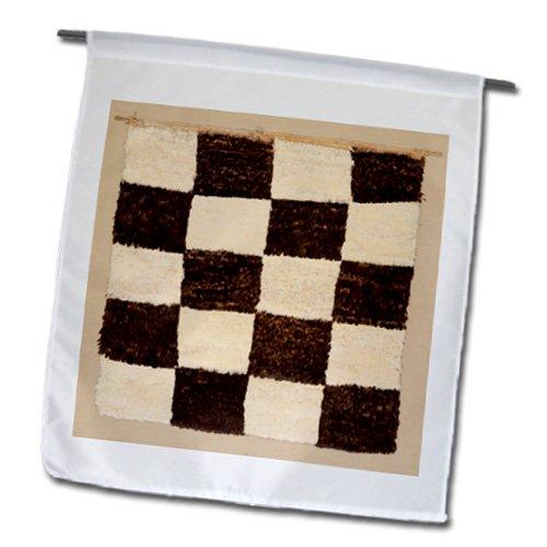 3drose FL 193089_ 1Print of peruanischen Teppich von 1500in schwarz weiß kariert Garten Flagge, 12von 18 (Karierte Flagge Shirts)