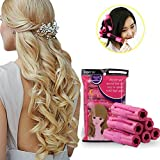 immagine prodotto Bigodini Arricciacapelli, Bigodini Flessibili per Capelli Lunghi, Bigodino Rullo, Rullo Arricciacapelli, Bigodini in spugna, Popular Soft Sponge Hair Curler Rollers, Hair Curling Styling Twist Tool DIY makeup Tools per Donne, Flessibile per Acconciatura Capelli DIY, Bastoni per Capelli Mossi, Ricci,(6Pz)