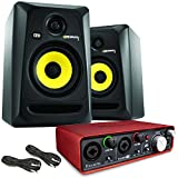 KRK RP5 ROKIT G3 Studiomonitor + Audiokarte Focusrite 2i2 + Kabel
