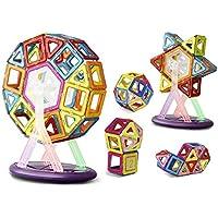 Keten Construcciones Magneticas Juegos de Construcción para Niños [52pcs]-Upgraded Juguetes Magnéticos Apilamiento de Construcción Juguetes para Niños Mayores de Tres Años