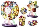 Keten Magnetische Bausteine 52 Teile-Bausteinen Bausatz Konstruktion – Verbessertes magnetisches Bau Stapelset Lernspiel für Kinder über drei Jahren