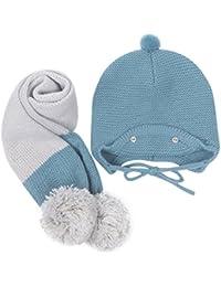 MuSheng(TM) Cute invierno bebe niños niñas niños caliente Gorras sombreros de lana bufanda capucha Hood