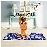 OHGQY Serviette de Yoga Microfibre Yoga Vert Serviette antidérapante Yoga Tapis de Sport Serviette Peut être plié 63cm × 183cm Tapis de Yoga (Color : A)