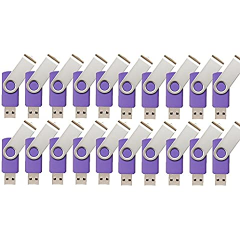 iMCA-CP-11409 – 100 pezzi USB Flash Drive 2 GB Memoria Flash USB Key hard disk USB 2.0 (viola)