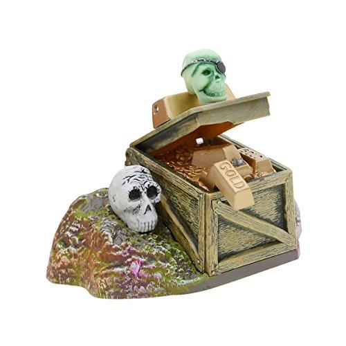 rium Ornament Jewelry Box Decor Skelette Schatztruhe Kunststoff Aquarium Dekoration ()