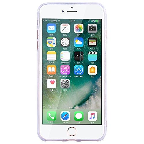 """WE LOVE CASE iPhone 7 Plus / 8 Plus Hülle Transparent Glitzern Liebe Flüssig Rose rot iPhone 7 Plus / 8 Plus 5,5"""" Hülle Silikon Weich Handyhülle Tasche für Mädchen Elegant Backcover , Soft TPU Flexibe red"""