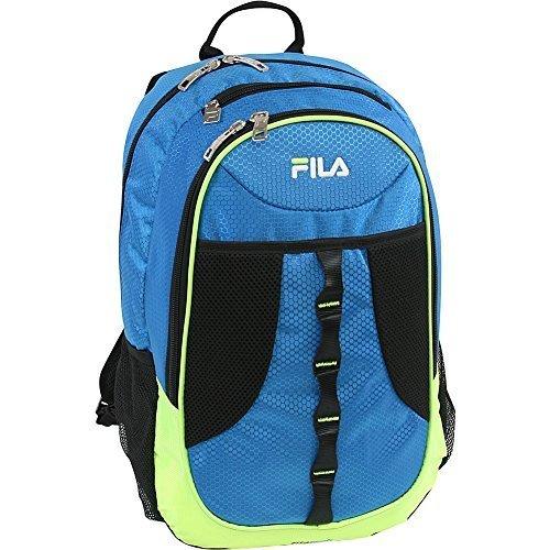 Fila FL-BP-1240 - Mochila infantil Adulto unisex, Blue/Neon Lime (Azul) - FL-BP-1240-BLLM