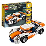 LEGO 31089 Creator 3-in-1 Sunset Track Racer Building Kit, Colourful