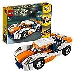 LEGO Creator Auto da Corsa, Macchina da Corsa Classica Open-top e Motoscafo, Set da Costruzione 3 in 1, Veicoli… LEGO