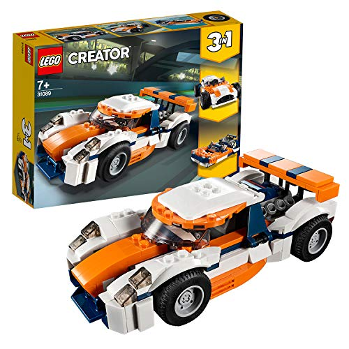LEGO 31089 Creator 3-in-1 Sunset Track Racer Building Kit, Colourful Best Price and Cheapest