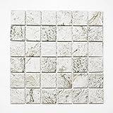 Fliesen Mosaik Mosaikfliesen Fliesen Mosaik Küche Bad WC Wohnbereich Fliesenspiegel Keramik Grau matt Boden 6mm Neu #562