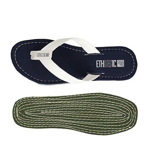 Ethletic Fair Flip vegan Classic - Farbe Ocean Blue/just White aus Bio-Baumwolle Größe 45