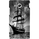 Nextgen Designer Mobile Skin For Sony Xperia SP :: Sony Xperia SP HSPA C5302 :: Sony Xperia SP LTE C5303 :: Sony Xperia SP LTE C5306 (Ship Voyage Bon Voyage In Seas Black And White)