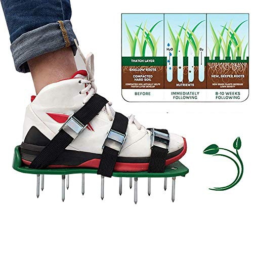 Lawn Shoes 3 Riemen Verstellbare Riemen Hochleistungs-Sandalen Mit Spikes Für Einen Grüneren Und Gesünderen Hof