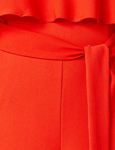 TRUTH & FABLE Damen Jumpsuit mit Carmen-Ausschnitt Rot (Red)