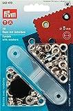 Prym Ringösen, 5mm, plus Unterlegscheiben, silberfarben, 40Stück