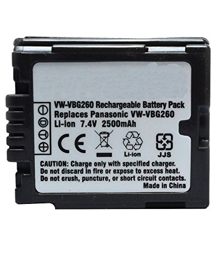 Gs500 Camcorder (Amsahr Digital Replacement Camera and Camcorder Battery for Panasonic VW: VBG260, VBG070)