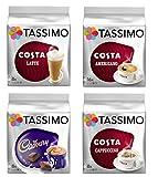 TASSIMO COSTA Cappuccino/Latte/Americano/Cadbury (4 Packs...