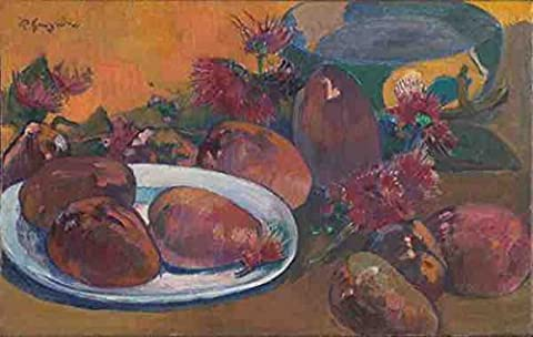 Paul Gauguin Still Life With Mangoes A3 Box Canvas