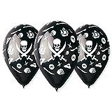 10Luftballons schwarz Pirat