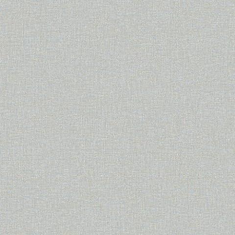ECO Crayon 3927 Vlies-Tapete Uni schraffiert taubenblau - Pigeon Blue