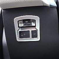 Para RR Velar 2017 ABS cola interruptor de la puerta Interior Plata Mate Marco electrónico Freno