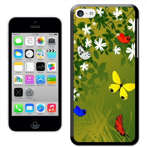 Fancy A Snuggle 'Dragon Fly Paradise' Hard Case Clip On Back Cover für Apple iPhone 5C Spring Butterflies