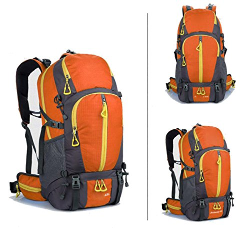 Bergsteigen Outdoor Sport Reisen Wasserdichter Multifunktionsrucksack,Black Orange