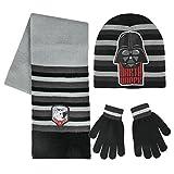 Star Wars 2200-2553 Set 3 Pezzi, Coordinati Invernali, Cappello, Sciarpa, Guanti, Bambino, Multicolore, Darth Vader