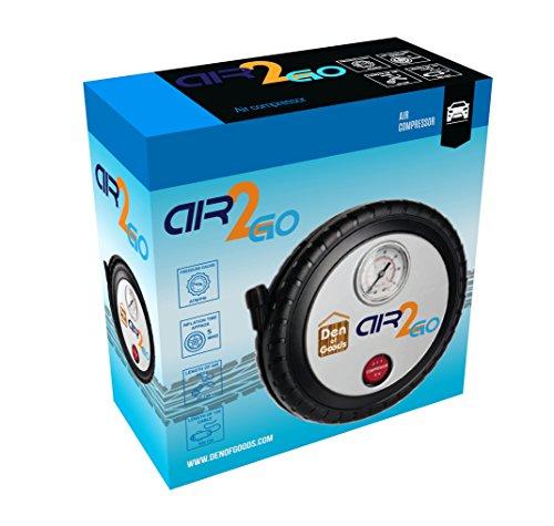 Luftkompressor Reifen Aufblasen – Für Auto-Fahrrad Motorrad – 12V DC Beweglicher Elektrischer Kompressor Auto Schnell Und Einfach Zu Bedienen. Durch Air2Go. - 2