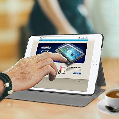 Fintie iPad 2017 9.7 Zoll / iPad Air 2 / iPad Air Hülle - [Slim Shell] Superleicht Folio Stand Schutzhülle mit Auto Sleep / Wake, Multi-Winkel Betrachtung für Apple iPad 2017, iPad Air 1 2, Schwarz - 7