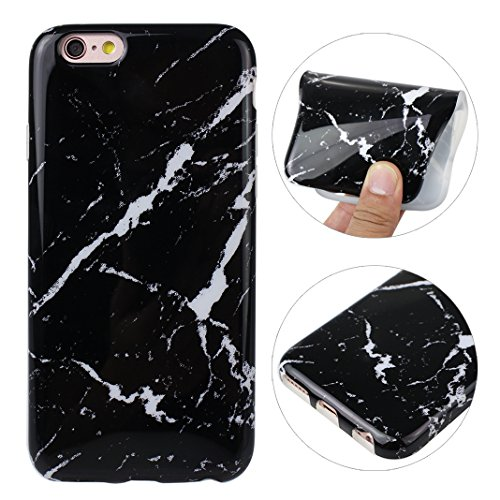 iPhone 6S Hülle Marmor, Rosa Schleife Ultra Dünn Weiche TPU Silikon Cases BackCover mit Marmor Muster Schutzhülle Handyhülle für iPhone 6S / 6 Marmor 1