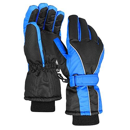 Terra Hiker Wasserdichte Skihandschuhe Damen Winter Thinsulate Handschuhe für Radfahren (Blau, M)